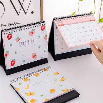2019 Desk Calendar Weekly Planner Monthly Plan To Do List Daily Note Simple Fruit Style Desktop Calendar Set