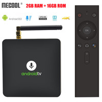 MECOOL KM8 TV Box Voice Remote Android 8.0 Amlogic S905X Quad Core 2GB RAM 16GB ROM VP9 HDR10 Dolby Audio Set Top Box