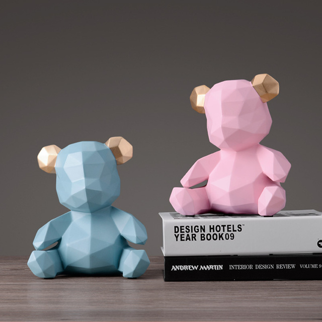 Teddy Bear Figurines Money Box
