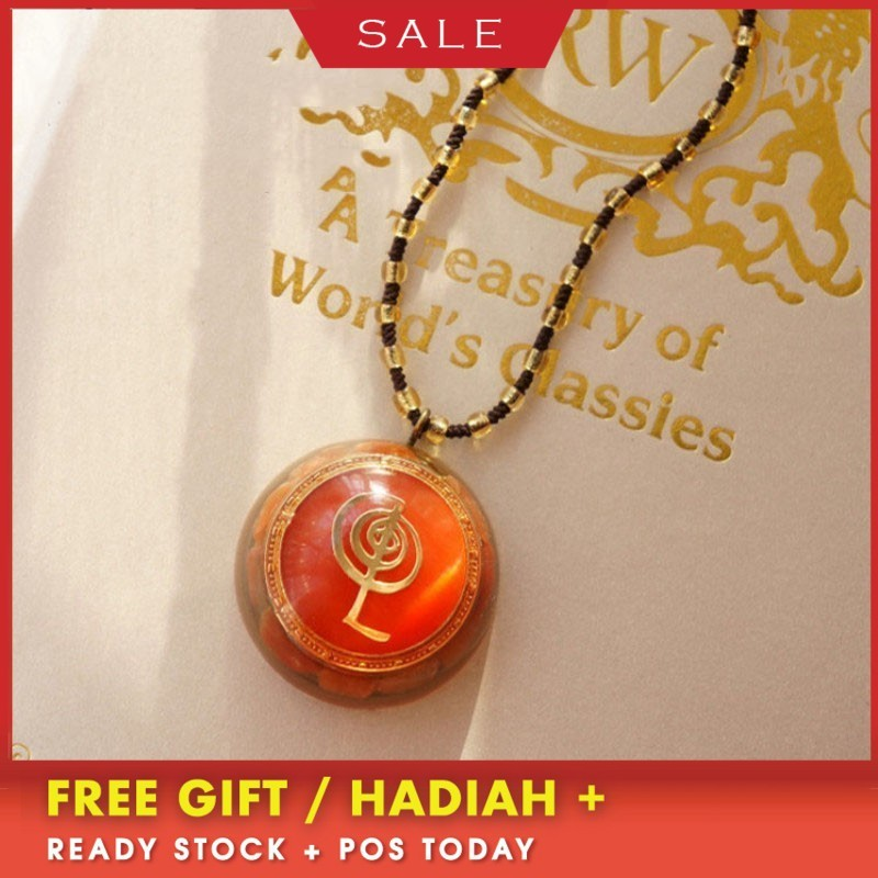 AURA Orgonite Pendant Healing Health Crystal Necklace For Women Energy Converter Reiki Chakra Yoga Meditation Jewelry Gift in Pendants from Jewelry Accessories