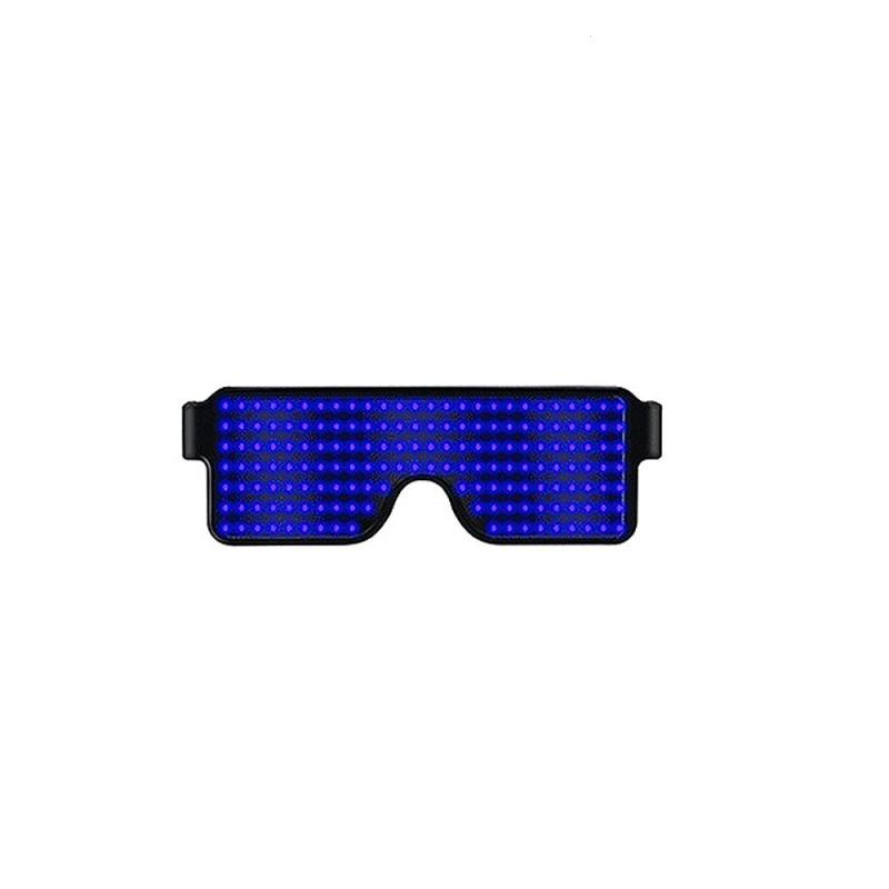 1pc Party Neon Led Glasses Dynamic Festival Light Sunglasses Bar Dance Luminous Novelty Led Party Festival Rave F30