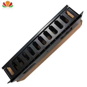 19″ Cabinet 2U Network Rack Cable Management 12 Stalls Plastic Frame Line Organizers Panduit Type For Patch Panel AMP