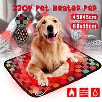 3-режимный питомец собака кошка водонепроницаемый Электрический нагревательный коврик для тела зимний теплый коврик кровать одеяло животн...