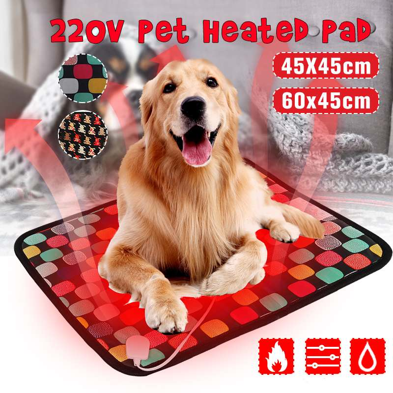 3-Mode Pet Dog Cat Waterproof Electric Heating Pad Body Winter Warmer Mat Bed Blanket Animals Bed Heater Accessories Random Sent