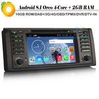 4 ядра Android 8,1 Авто DAB + стерео DVD радио Wi Fi 4G OBD автомобиля gps навигации плеер для BMW 5 серии E39 E53 M5 X5