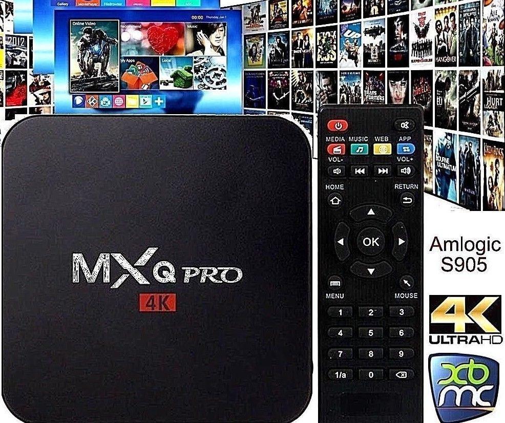 NOUVEAU MXQ Pro 4 K Ultra HD 3D 64Bit Android 7.1 Quad Core boîtier de smart tv KODI 17.6