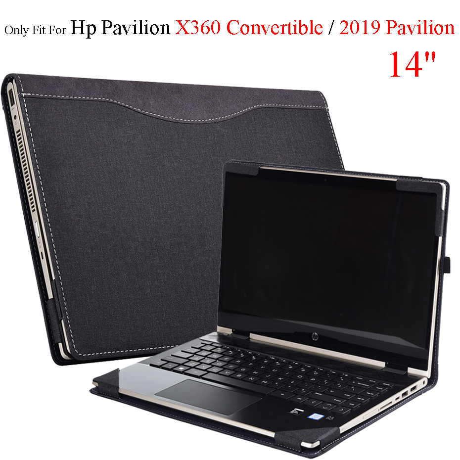 Detachable Case For Hp 2019 Pavilion 14 Laptop Sleeve Cover For Hp Pavilion X360 Convertible 14 Inch PU Leather Protective Case image
