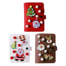 New Original Cute Cartoon Christmas Elk Hand Book Loose-leaf Notebook Diary DIY Handmade Gift