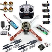 DIY 4 axle RC Multi QuadCopter Drone with KK V2.3 Circuit board 1000KV Motor 30A ESC F450 Frame Kit RadioLink T8FB 8CH TX