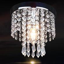 Nowoczesny wisiorek z kryształem światła 85 265V E14 5W źródło światła sypialnia salon wiszące oświetlenie wewnętrzne (średnica 20CM)