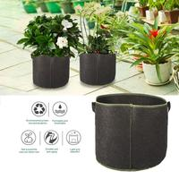 5 Pack Planting Grow Bags 10 Gallon Aeration Fabric Pots Container with Handles for Fruit Vegetable