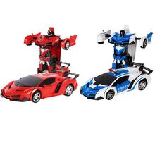 2 In 1 RC Deformation Robots Models Car