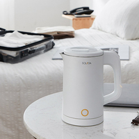 Xiaomi Youpin Electric Kettle Double Layer Anti Scalding Wide Voltage Durable And Healthy 304 Stainless Steel Water Bottles