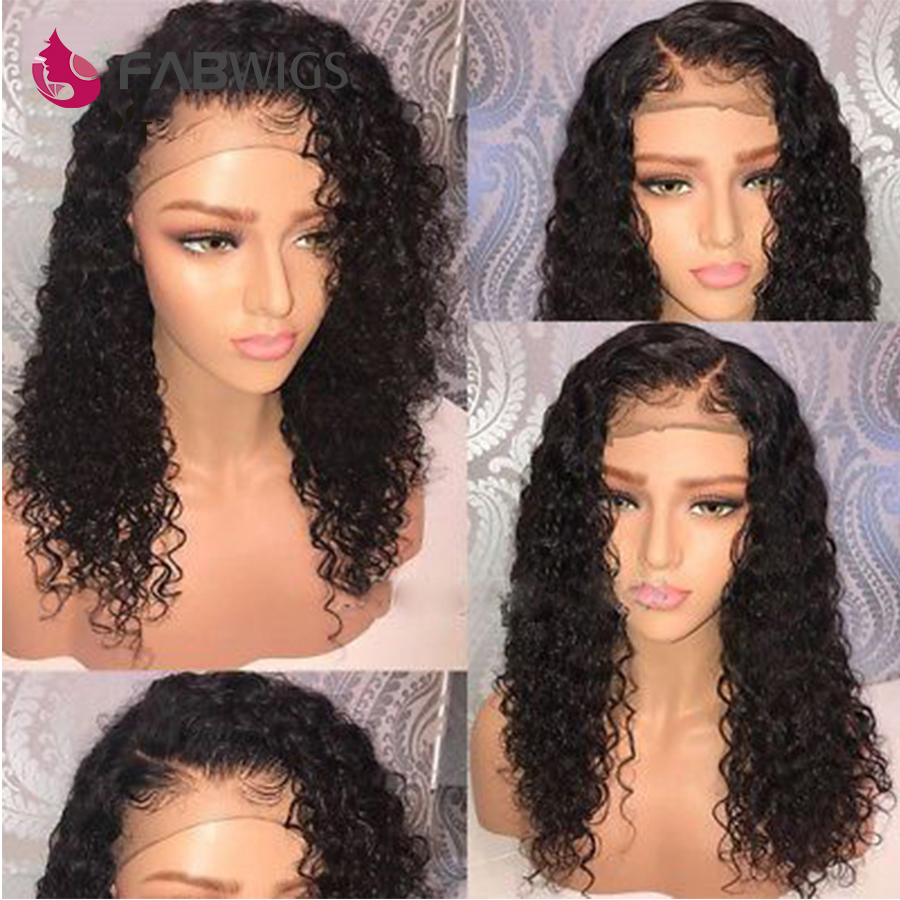 Fabwigs Full Lace Wig Brazilian Curly Full Lace Human Hair Wigs with Baby Hair Remy Pre Plucked Lace Wigs For Black Women-in Human Hair Lace Wigs from Hair Extensions & Wigs    2