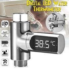 Led תצוגת מים מקלחת מדחום LED תצוגת בית מים מקלחת מדחום זרימת מים טמפרטורת צג