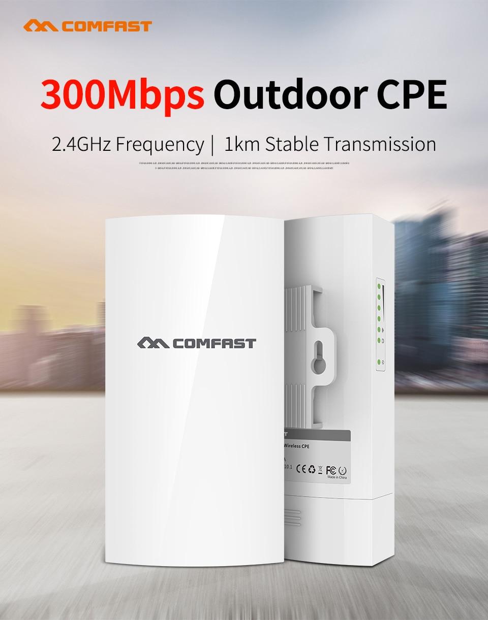 EU Outdoor Mini Wireless AP Bridge 1KM 300Mbps 2 4Ghz WIFI CPE Access Point 5dBi WI
