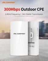 EU Outdoor Mini Wireless AP Bridge 1KM 300Mbps 2.4Ghz WIFI CPE Access Point 5dBi WI FI Antenna Nanostation CPE For Long Range IP