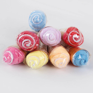 Random Color Portable Double Color Cute Soft Washing Towel Shaped Ice Cream Gift Favor For Wedding Party