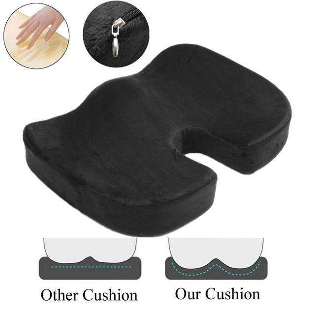 Portatil Cojín para asiento de viaje cojín ortopédico de espuma de memoria U asiento de masaje cojín para silla cojín para coche cojín de masaje de oficina