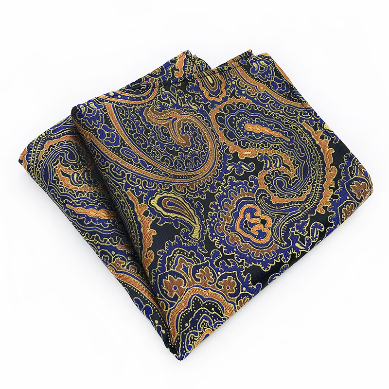 2019 New High Quality 25*25cm Polyester Material Striped Wild Suit Pocket Towel Adult Jacquard With The Square Scarf