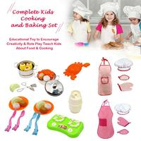 30PCS Kids Plastic Simulation Kitchen Ware Cooking Pretend Play Toys Set Cooking Pans Dishes Cookware Toys For Babys