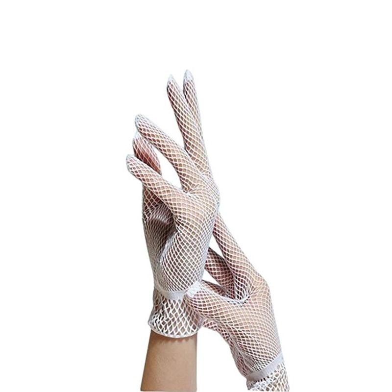 1 Pair Hollow Wedding Gloves Ladies Fishnet Gloves Summer Sunscreen Driving Length
