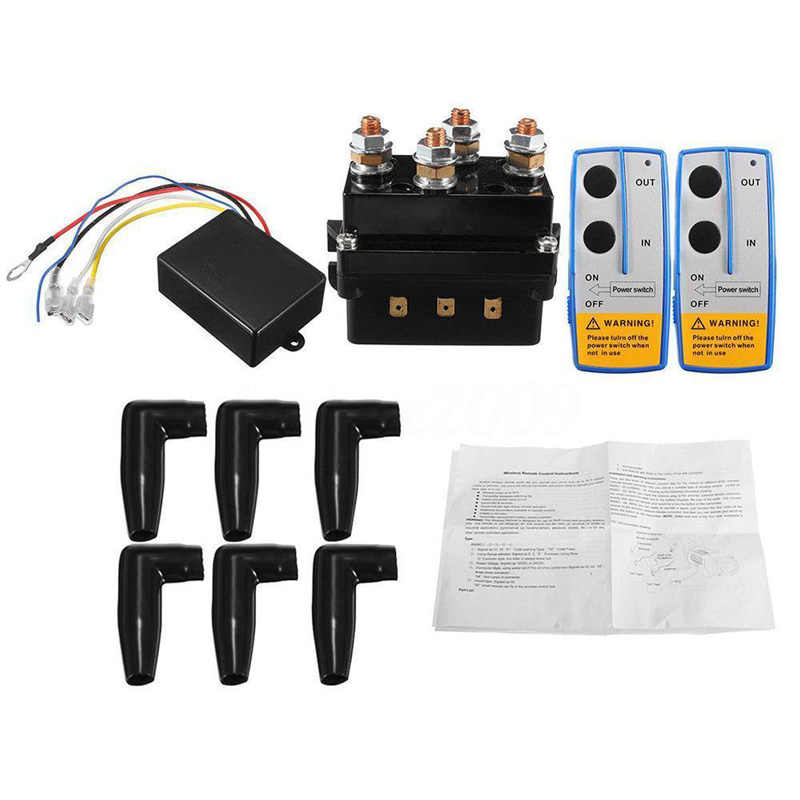 12V 500A HD Contactor Winch Control Solenoid Relay Twin Wireless Remote Trucks
