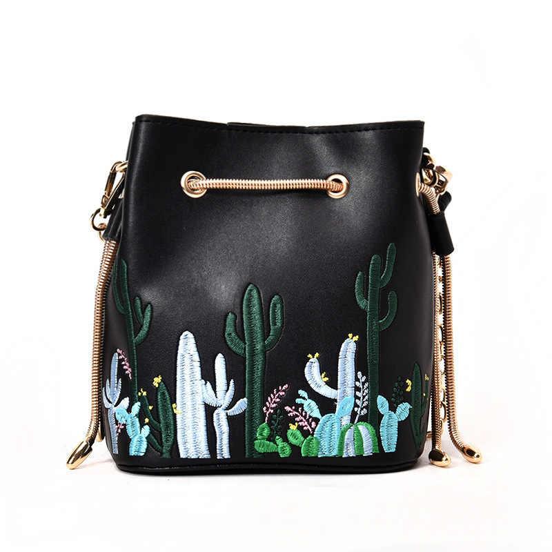 Новые кактус сумки через плечо с печатным рисунком для женщин Роскошные сумки дизайнер известный бренд Bolsa Feminina сумка на плечо женская сумка