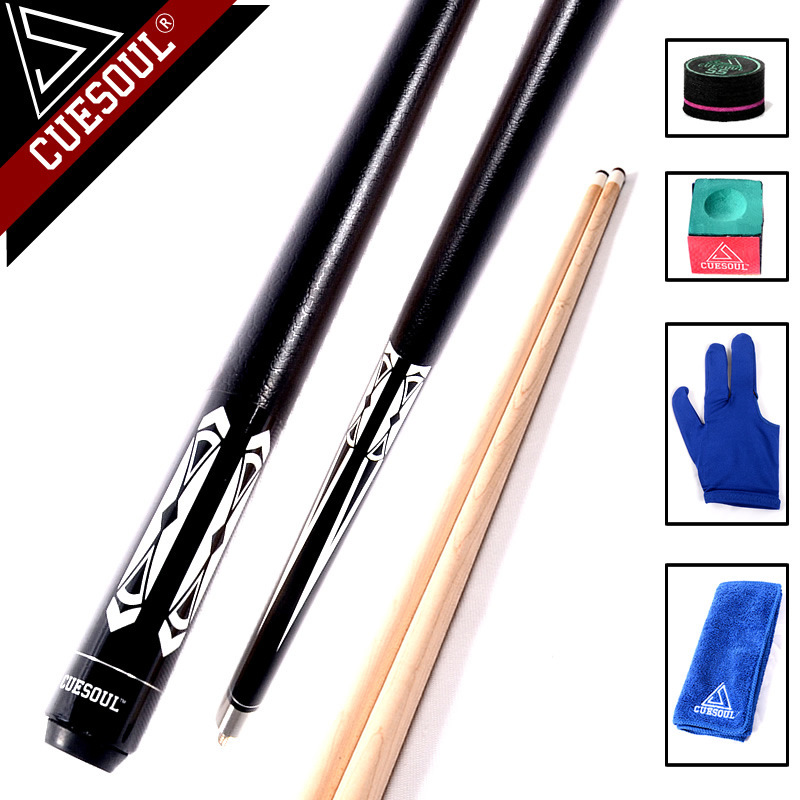 CUESOUL Billiard Pool Cue Stick With 13mm Cue Tip Snooker Cue 58 19.5oz With Free Tool цена