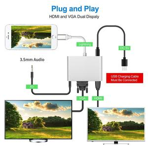 Image 3 - Lighting to HDMI VGA AV Adapter 4 in 1 Plug and Play Digtal AV Adapter for iPhone X / 8 / 8Plus/7/7Plus/6/6s/6s Plus/5/5s iPad