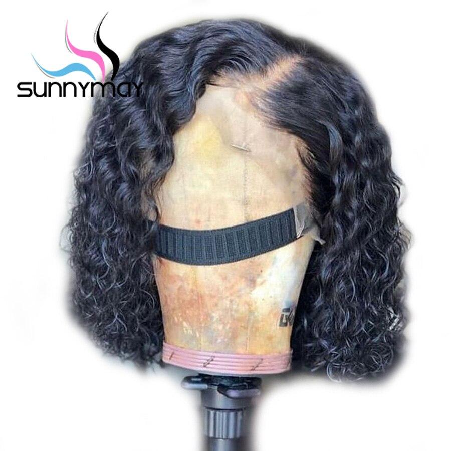 Sunnymay Curly Lace Առջևի Մարդու Մազերի - Մարդու մազերը (սև) - Լուսանկար 1
