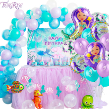 FENGRISE The Little Mermaid Party Supplies Birthday Decor Kids Baby Shower Girl Theme
