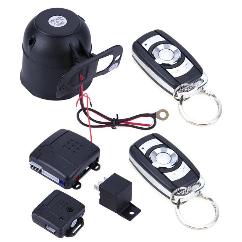 Veículo Car Auto Proteção Sistema de Segurança Keyless Entry Com Controladores Remotos de Alarme Contra Roubo Sistemas De Alarme De Carro Universal Hot