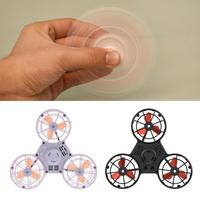 Pressure Reliever Toy Mini Rechargeable Automatic Rotatable Low Speed Flying Fidget Spinner Spinning Top For Adults Children