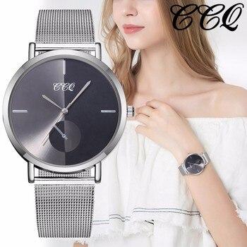 Femenino Malla Las Ccq De Inoxidable Mujeres Banda Pulsera Lujo Mujer Cuarzo Reloj Acero Analógico Marca Relojes WDYH2I9bEe