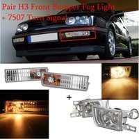 12V 21W For Volkswagen for VW Jetta Golf MK3 1993 1998 Car Styling H3 Fog 7507 Signal light Car Lens Fog Light Turn Signal Light