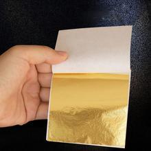 100pcs Art Craft Paper Imitation Gold Sliver Copper Leaf Leaves Sheets Foil Paper for Gilding DIY Craft Decoration 9x9cm #A20 100pcs gold silver copper leaf leaves metal sheets foil for gilding art craft home decoration mayitr 14x14cm