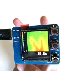Image 1 - DYKB AMG8833 الأشعة تحت الحمراء 8X8 كاميرا تصوير حراري صفيف وحدة استشعار درجة الحرارة عدة شاشة ديجيتال قياس درجة الحرارة