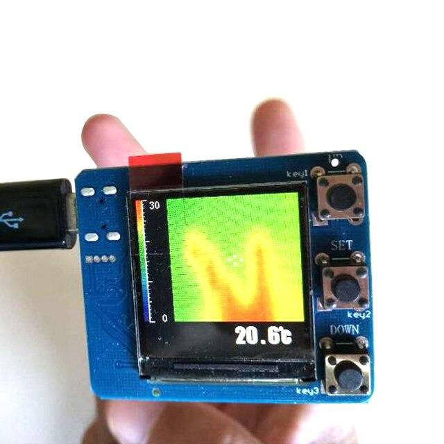 DYKB AMG8833 IR אינפרא אדום 8X8 תרמית הדמיה מצלמה מערך טמפרטורת חיישן מודול ערכת תצוגה דיגיטלית טמפרטורת מדידה