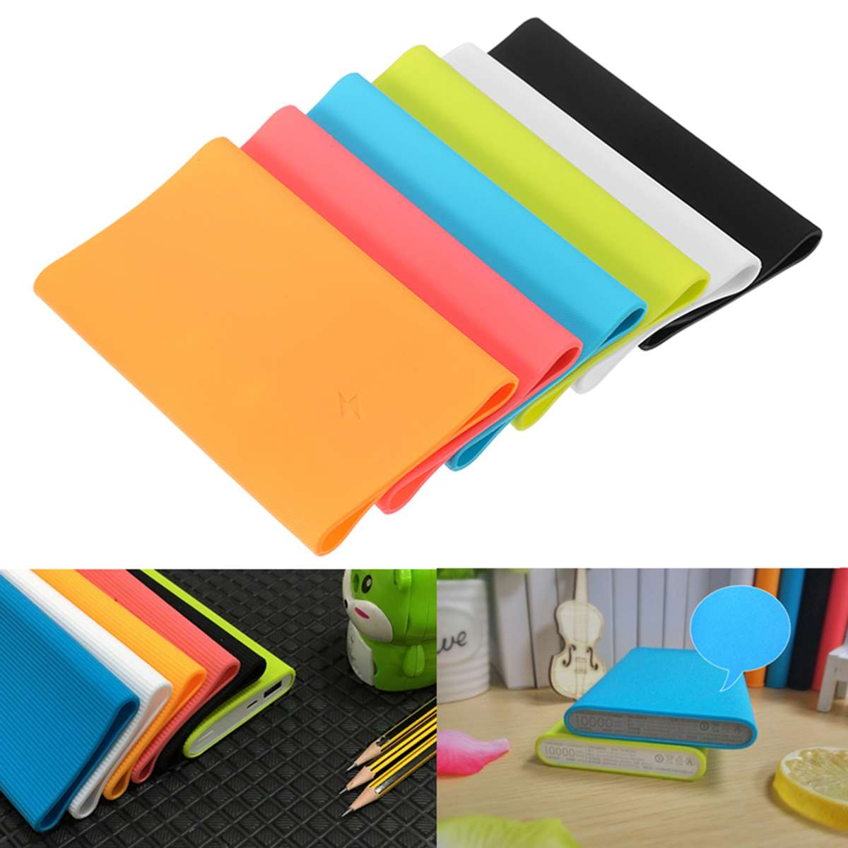13.5cm Soft Silicone case For Xiaomi Power Bank 2 10000mAh 2016 Protective Anti-slip Case External Battery Cover case Skinfriend