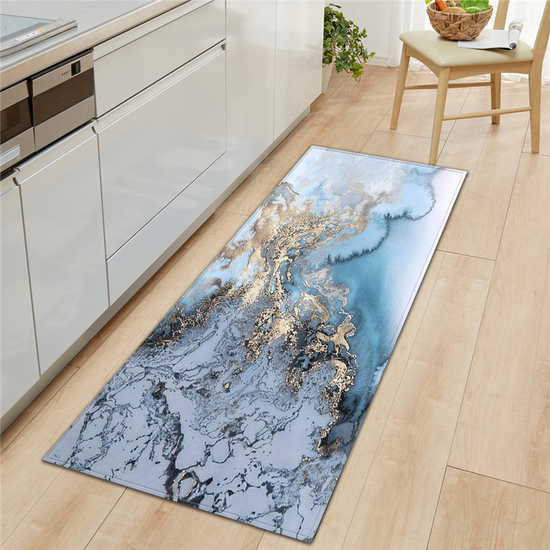 US $12.49 49% OFF|Black White Marble Printed Doormat Long Kitchen Rugs Door  Mats Welcome Floor Mats Karpet Front Porch Rugs Foot Pad Tapete LZR75-in ...