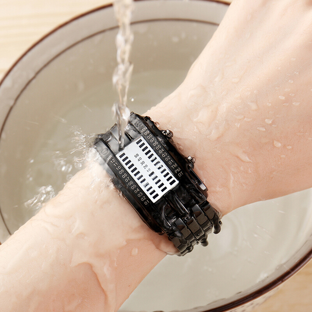 Creative Digital LED Display 50M Waterproof Lover's Wristwatch 1