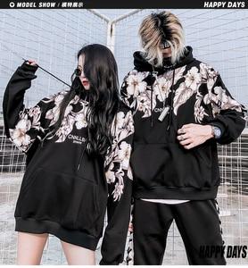Image 5 - Mùa Đông 2018 Mới in Hoa dày Áo khoác nam hoodie Cotton oversize Harajuku Dạo Phố Cao Cấp Nam Nữ Top