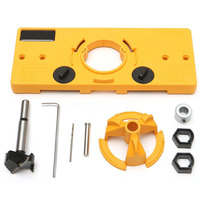 DWZ 35MM Cup Style Hinge Boring Guide Door Hole Locator Jig Drill Set For Kreg Tool