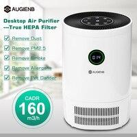 AUGIENB Desk Air Purifier True HEPA Filter Air Cleaner Smoke Dust Odor PM2.5 Eliminator for Allergiesc Pets Dander Smoke