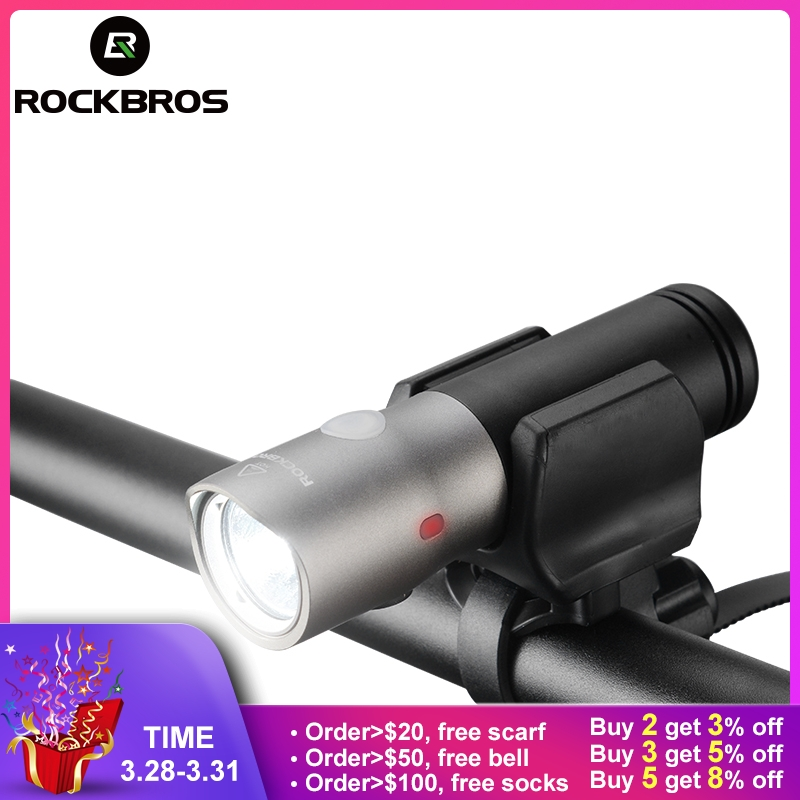 ROCKBROS 1000 люмен велосипед свет Водонепроницаемый IPX6 USB Перезаряжаемые 18650 3000 mAh Мощность светодиодный Bank фонарик MTB Аксессуары