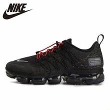 NikeAIR VAPORMAX UTLTY Men Running Shoes Air Cushion Breathable Sports Sneakers #AQ8810-001 li ning men s cushion running shoes breathable textile sneakers support tpu lining sports shoes arhm057 xyp478