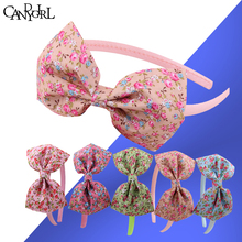 150pcs Wreath Butterfly Bow Headbands Hoop Hairpin Floral Fabric Women Hairbands Printing Headdress Hair Accessories Headwear