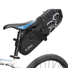 hot deal buy 10l bike bag bike rear seat bag bicycle tool storage pouch cycling saddle tail packs bike storage bag