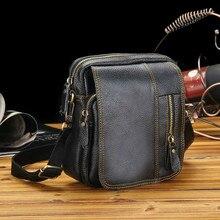 все цены на Men 100% Genuine Cowhide natural real Leather handbags Men Messenger Bags Commercial Briefcase Shoulder Crossbody Bag handbag онлайн